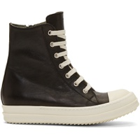 Black & Off-White High-Top Sneakers