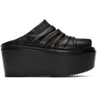 Black Draped Sabot Clogs