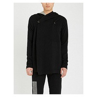 RICK OWENS Stretch-cotton hooded cardigan