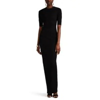 Rick Owens Textured-Crepe Fitted Long Dress
