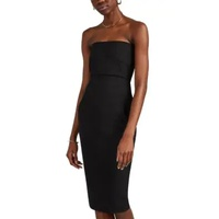 Rick Owens Textured-Crepe Fitted Strapless Dress