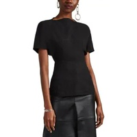 Rick Owens Judith Textured-Crepe Fitted Top