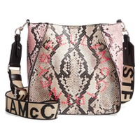 STELLA MCCARTNEY Mini Snake Print Faux Leather Crossbody Bag