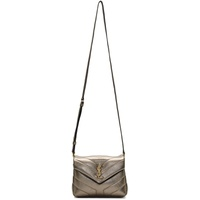 Gunmetal Metallic Toy Loulou Bag