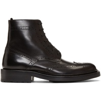 Black Army Brogues Boots