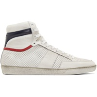 White & Navy Court Classic SL/10 Sneakers