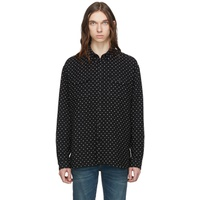Black Jacquard Guillemets Shirt