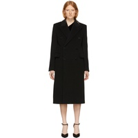 Black Wool Double-Breasted Coat