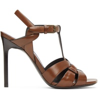 Brown Leather Tribute 105 Heeled Sandals