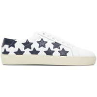 White & Black Star Court Classic Sneakers