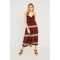 Shop all Urban Outfitters UO Bunny Tie-Front Stripe Jumpsuit