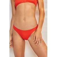 Shop all Urban Outfitters UO Ribbed High Leg Bikini Bottoms