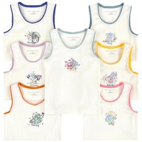 Stella McCartney Kids Pack of 7 organic cotton Monster vests