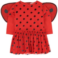 Stella McCartney Kids Ladybird dress with wings and matching knickers