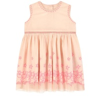 Stella McCartney Kids Baby embroidered organic cotton dress and matching bloomers
