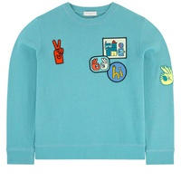 Stella McCartney Kids Organic cotton sweatshirt with patches