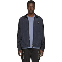 Navy Zip-Up Overshirt Jacket