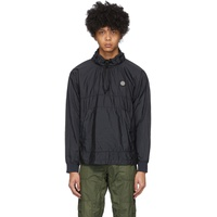 Navy Nylon Metal Ripstop Jacket