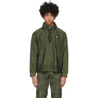Khaki Nylon Metal Ripstop Jacket