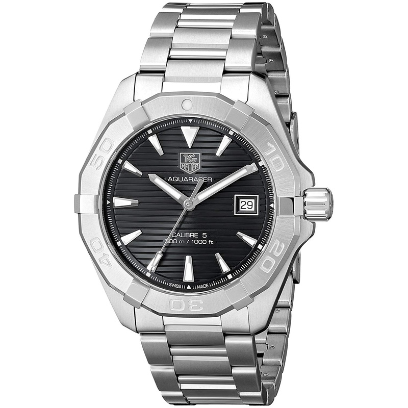 TAG Heuer Mens WAY2110.BA0910 300 Aquaracer Analog Display Swiss Automatic Silver Watch