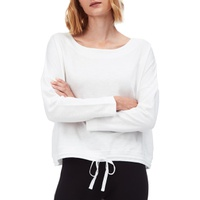 THE WHITE COMPANY Tie Waist Cotton Sweatshirt