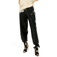TOPSHOP Premium Leather Jogger Pants