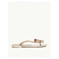 TED BAKER Glamari bow-detail metallic jelly sandals