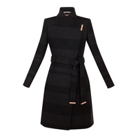 Ted Baker Narrla Stripe Long Wrap Coat