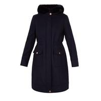 Ted Baker Aniyah Faux Fur Hooded Wool Parka