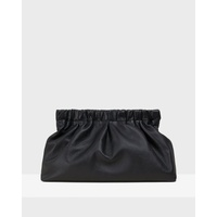 Pleated Clutch in Leather