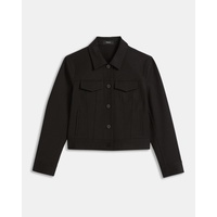 Theory Double Stretch Cotton Shrunken Jacket