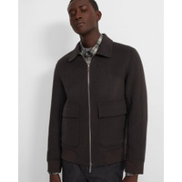 Theory Reversible Bomber Jacket in Double-Face Cashmere