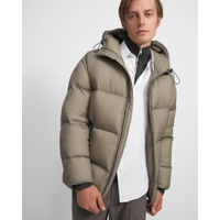 Theory Quintin Re:Down Puffer Coat in Washed Nylon