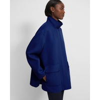 Theory Utility Coat in Double-Face Wool-Cashmere