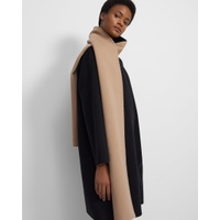 Theory Scarf Coat in Double-Face Wool-Cashmere