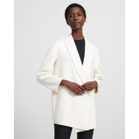 Theory Clairene Shawl Jacket in Double-Face Wool-Cashmere