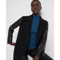 Theory Clairene Jacket in Double-Face Wool-Cashmere Combo