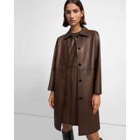 Theory Piazza Coat in Leather