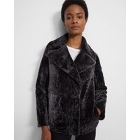 Theory Clairene Moto Jacket in Shearling