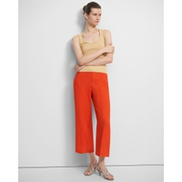 Theory Wide Cropped Pant in Eco Rosina Crepe