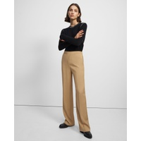 Theory Wide Leg Pull-On Pant in Liquid Twill