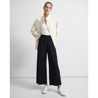 Theory Ribbed Waist Pant in Silk Jersey