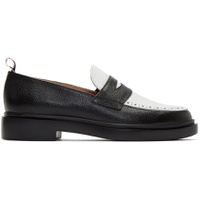 Black & White Lightweight Sole Penny Loafers