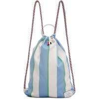 Tricolor Stripe Drawcord Backpack