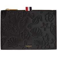 Black Embossed Sea Icon Pouch