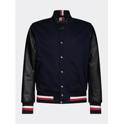 Tommy hilfiger Varsity Leather Bomber Jacket
