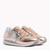 Tommy hilfiger Metallic Lace-Up Trainers