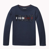Tommy hilfiger Sequin Logo Long Sleeve T-Shirt