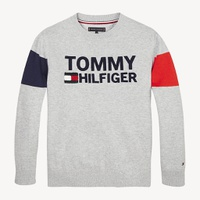Tommy hilfiger Colour-Blocked Logo Organic Cotton Jumper