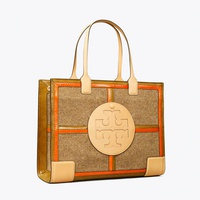 Ella Mixed-Materials Quadrant Tote Bag